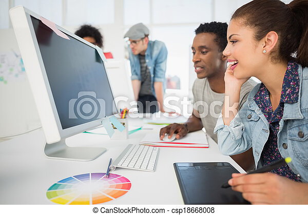 Casual photo editors using graphics - csp18668008
