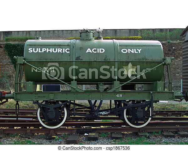 Sulphuric acid rail tanker - csp1867536