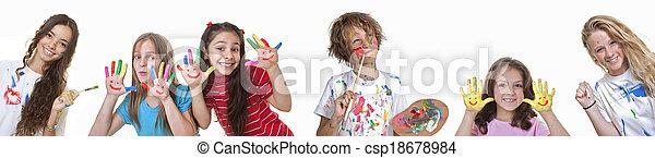 kids art classes - csp18678984