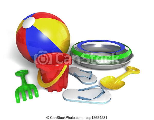 Beach toys - csp18684231