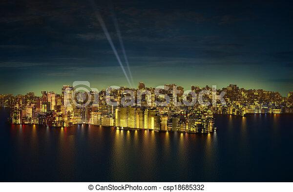 Big city by night - csp18685332