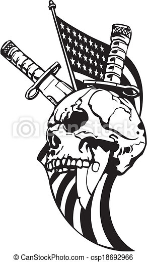 US Army Military Design - Vector illustration. - csp18692966