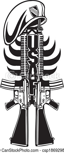 Vector of US Army Military Design - Vector illustration. - US Army ...