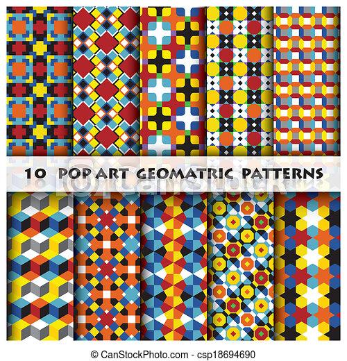 Pop Art Geomatric Background Pattern Style