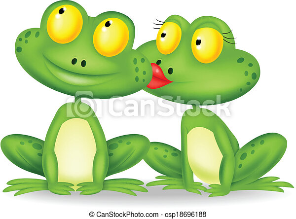 kissing frog clip art