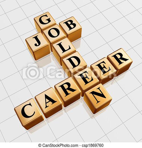 golden job and career crossword - csp1869760
