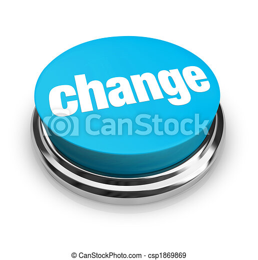 Change - Blue Button - csp1869869