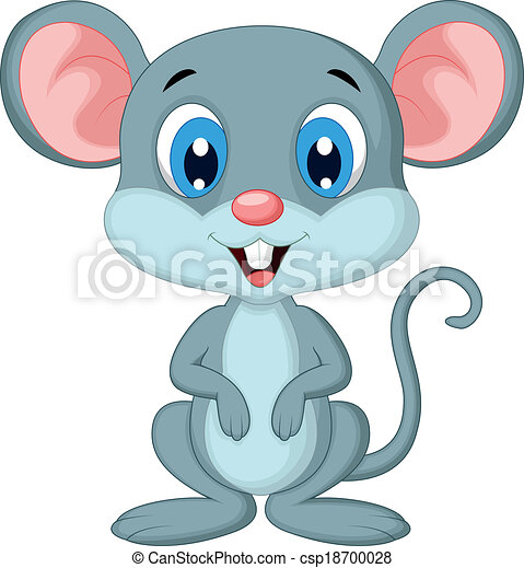 Vector illustration of cute mouse cartoon vector for Field mouse cartoon
