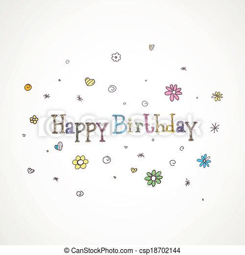 Vector Birthday Greeting Card - csp18702144