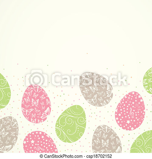 Vector Easter Background - csp18702152