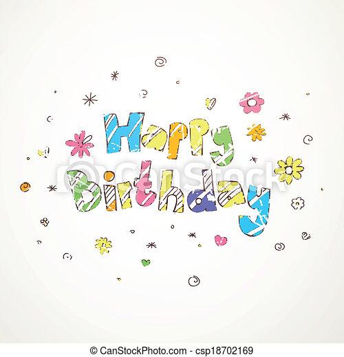 Vector Birthday Greeting Card - csp18702169