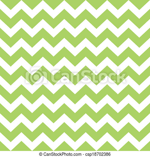 Zigzag pattern in wild green isolated on white - csp18702386