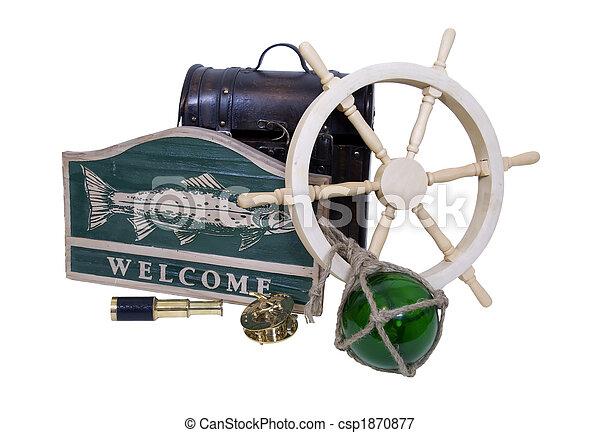Nautical greeting - csp1870877