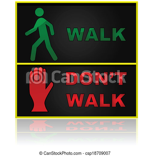 Don't Run Before You Can Walk Vector Walk And Don't Walk