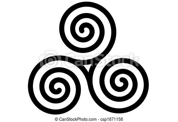 The celtic triple spiral or triskele - csp1871158
