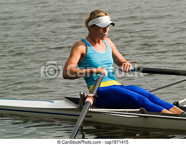 Rowing girl - csp1871415