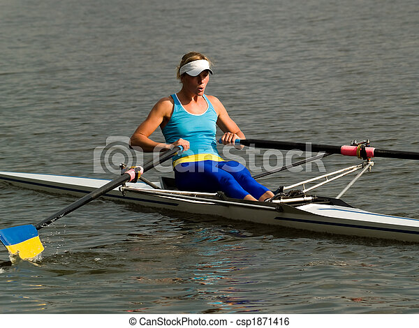 Rowing girl - csp1871416