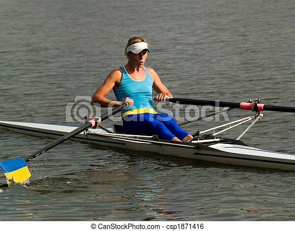 Rowing girl - csp1871416