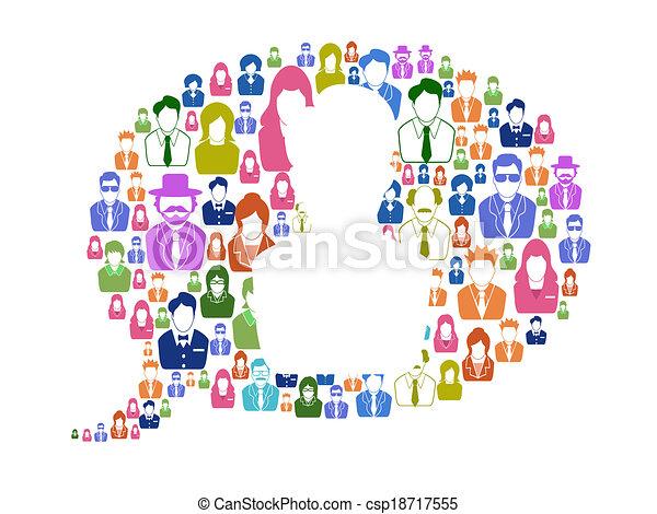 Diversity communication in speech bubble - csp18717555