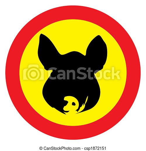 swine warning  - csp1872151
