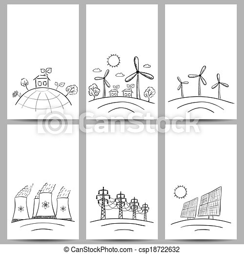 Power station energy banners - csp18722632