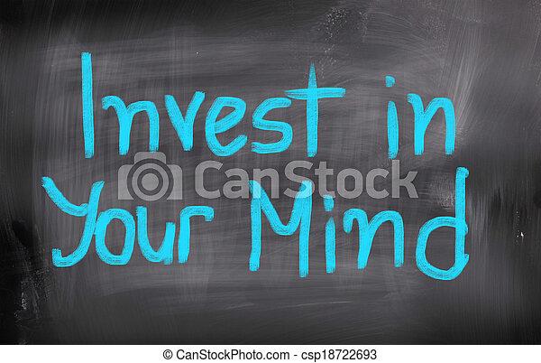 invierta, concepto, mente, su - csp18722693