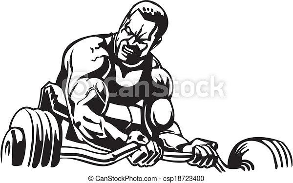 Clipart vecteur de musculation powerlifting vecteur - Musculation dessin ...