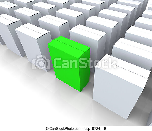 Stock Photography of Blank Box Copyspace Means Stand Out ...
