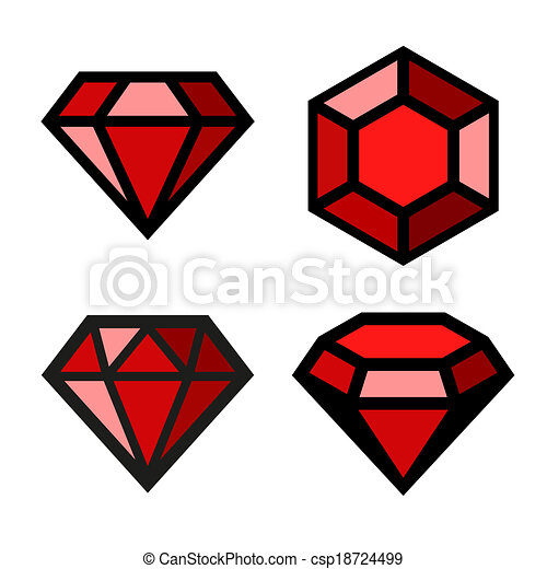 Ruby diamond set