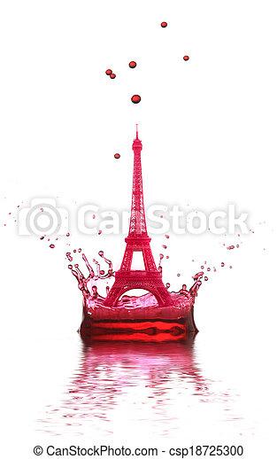 Eiffel Tower, - csp18725300