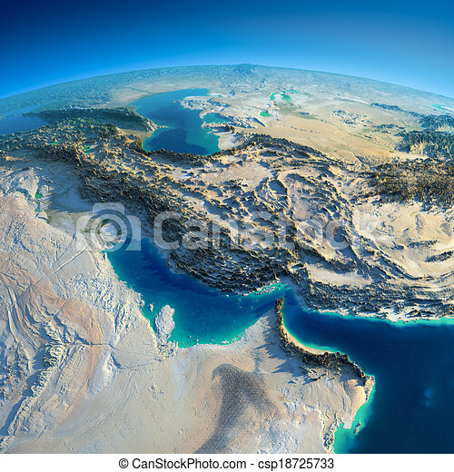 Detailed Earth. Persian Gulf - csp18725733