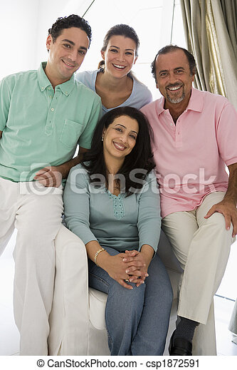 A Middle Eastern family - csp1872591
