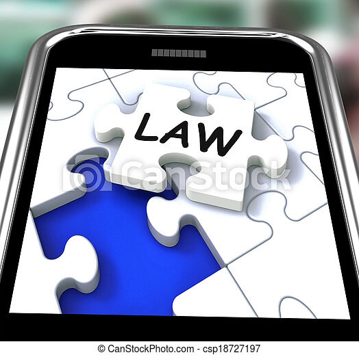 Law Smartphone Showing Legal Information And Legislation On Internet - csp18727197