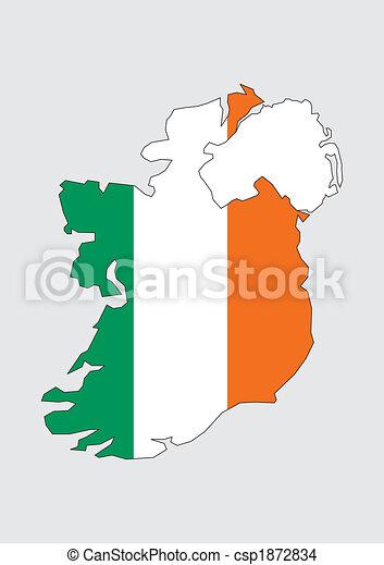 Map of Ireland - csp1872834