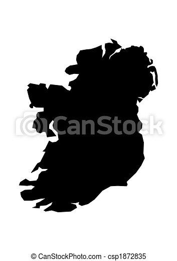 Map of Ireland - csp1872835