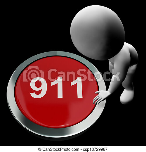 Nine One One Button Shows 911 Emergency Or Crisis - csp18729967