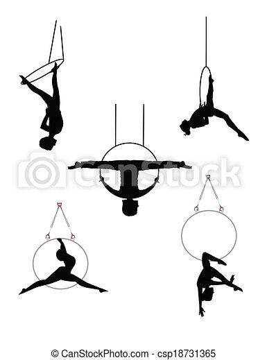 aerial hoop dancers - csp18731365