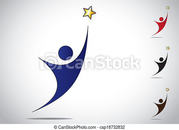 person winning achieving success - csp18732832