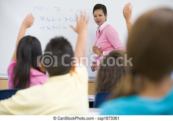 Elementary school maths class - csp1873361