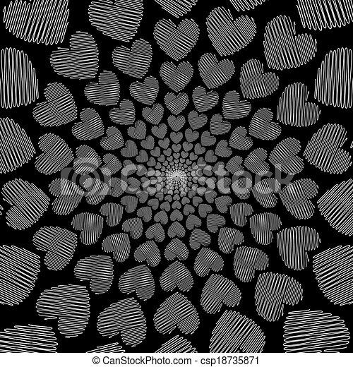 Doodle Designs Heart Design Doodle Monochrome Heart