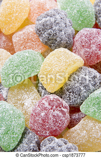 Sugared Fruit Chew Sweets - csp1873777