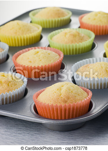 Cup Cakes in a Cup Cake Tray - csp1873778