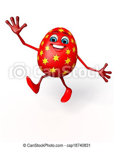 Happy easter egg - csp18740831