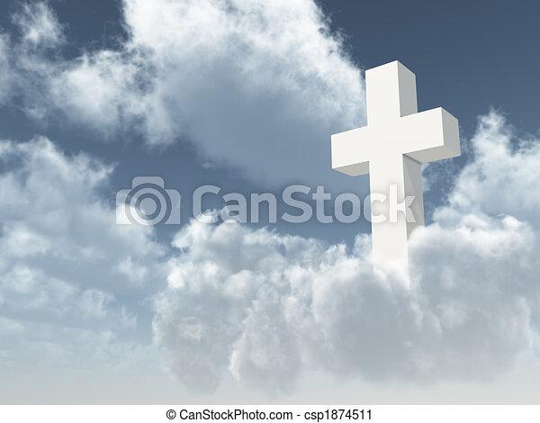 christian cross - csp1874511