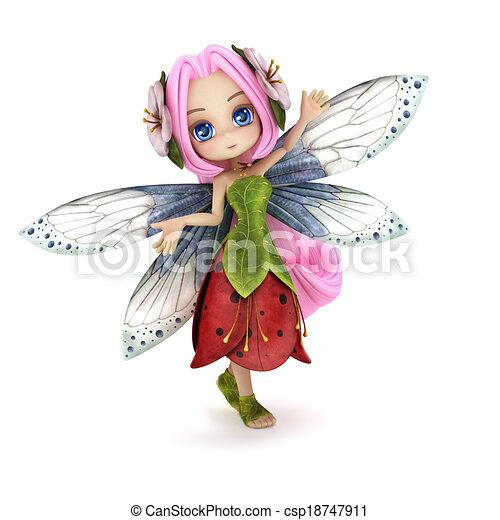 clipart of cute toon fairy posing   cute toon fairy