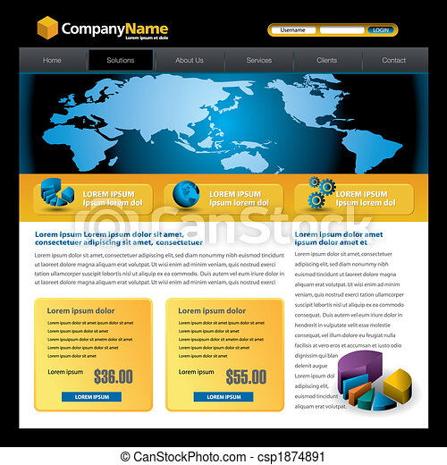 web site design template - csp1874891