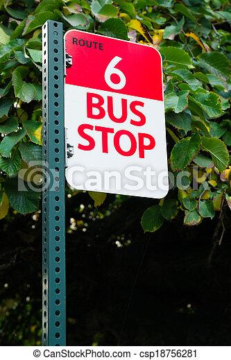 Bus Stop Route 6 Public Transit Downtown City Transportation - csp18756281