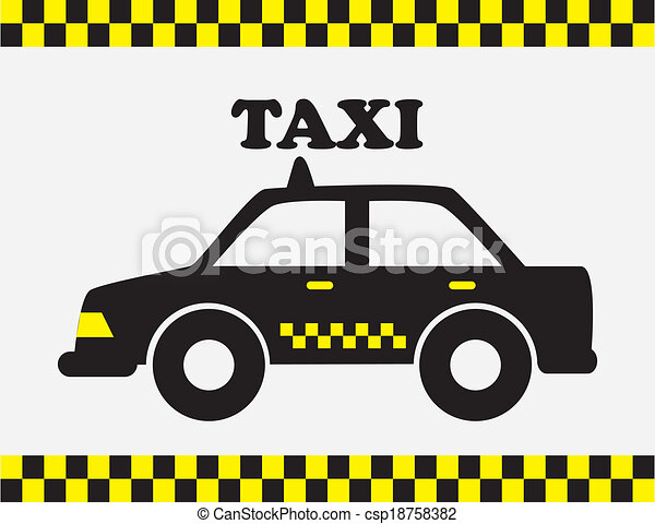 Vector - taxi cab - stock illustration, royalty free illustrations ...