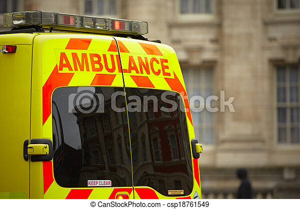 Emergency ambulance car - csp18761549
