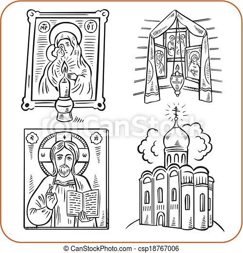 Orthodox religion - vector illustration.
